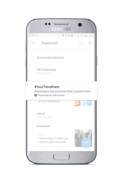 Promoted Trend voorbeeld Twitter advertenties